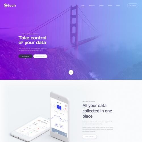 Ctech Homepage Design
