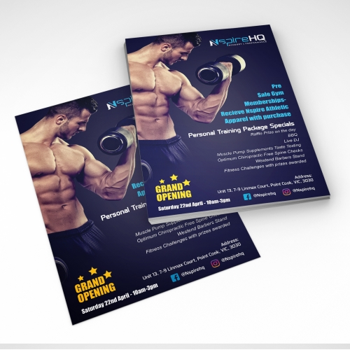 Flyer for GYM