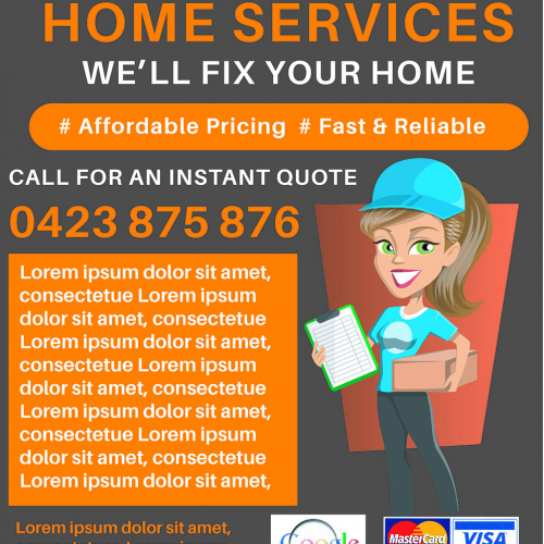 News Paper Ad for Home Service