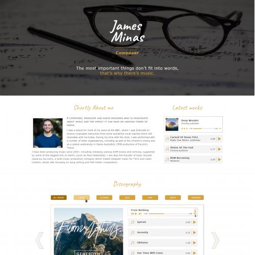 Composer website design