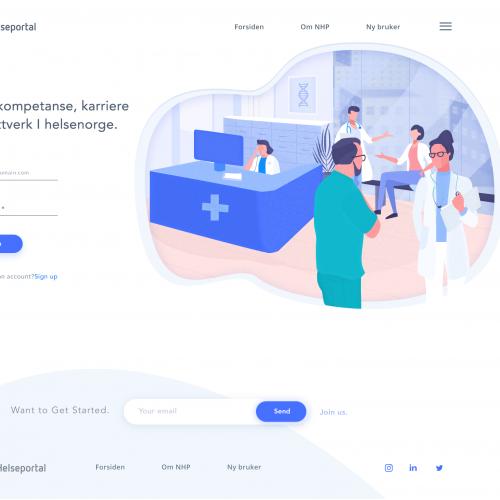 Medical login page