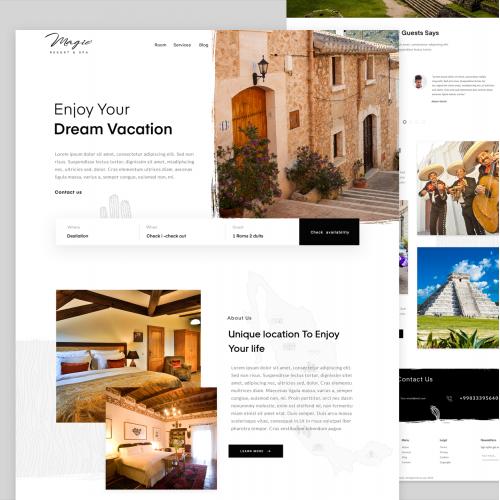 travel landig page