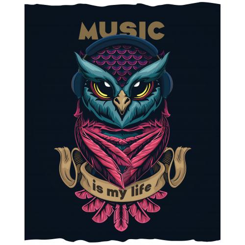Musical owl - T-shirt Design