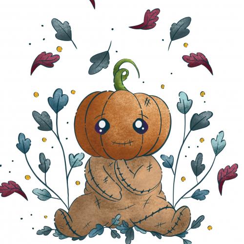 Cute Baby Pumpkin head ill