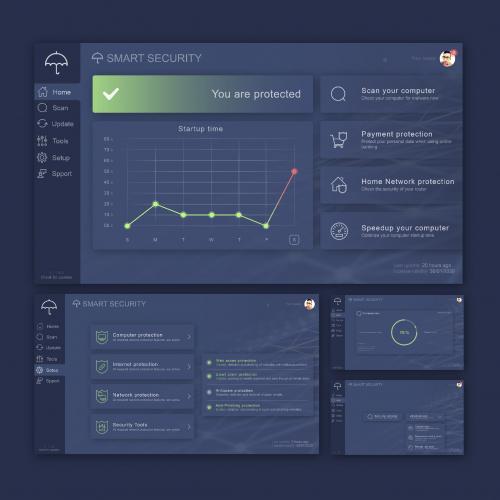 Antivirus Ui Design