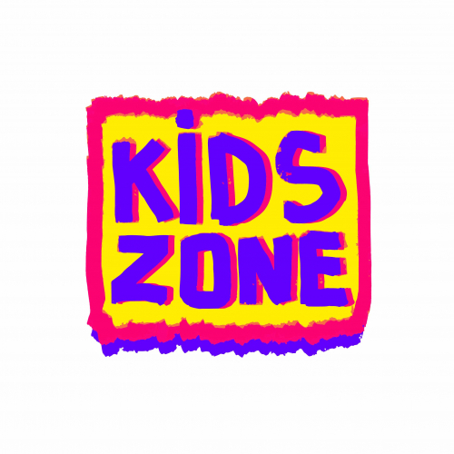 Kids zone logo. Emblem for children's play area.