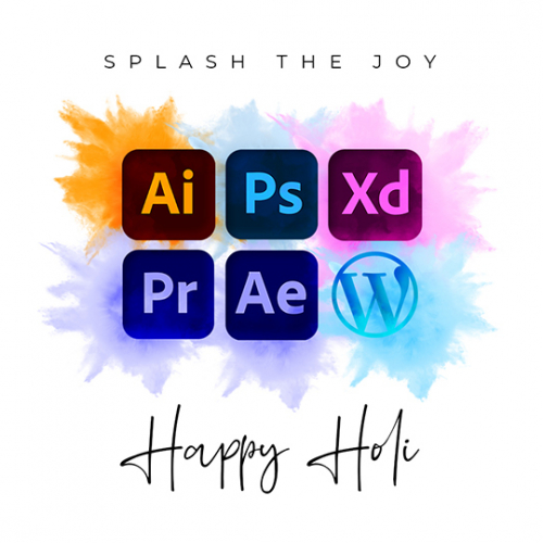 Happy Holi - Social Media Post