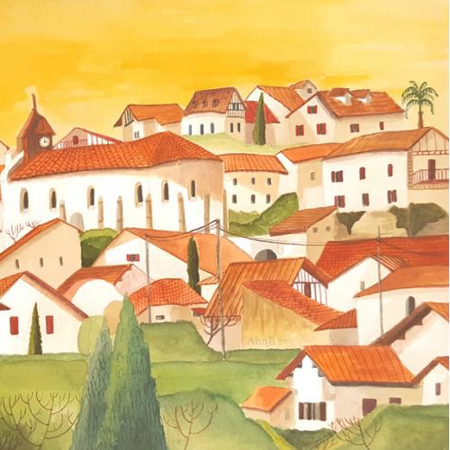 Landscape_watercolor illustration