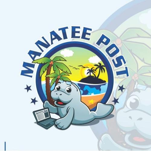 manatee post blogger logo design