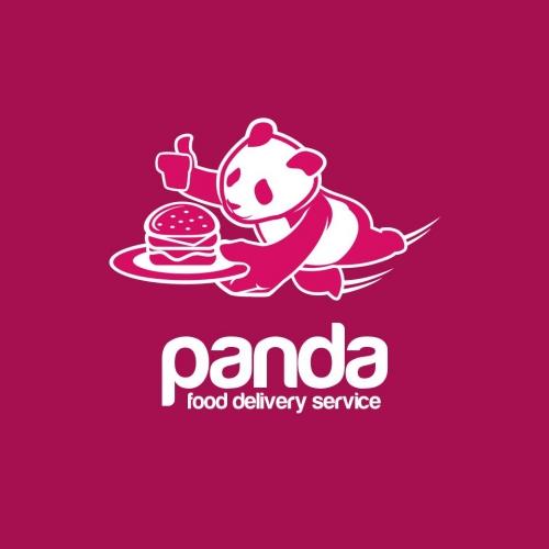 logo panda food delivery