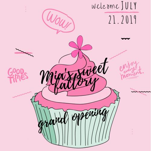 flyer for oppening cakes shopp