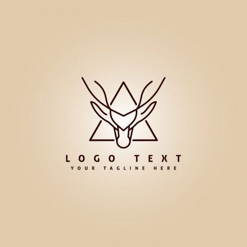 Deer line art logo