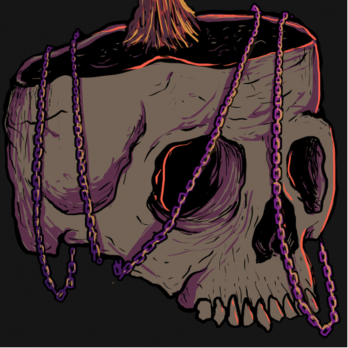 Skull, Chain and Candle