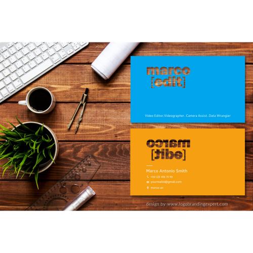 Marco_edit custom shape_Business card