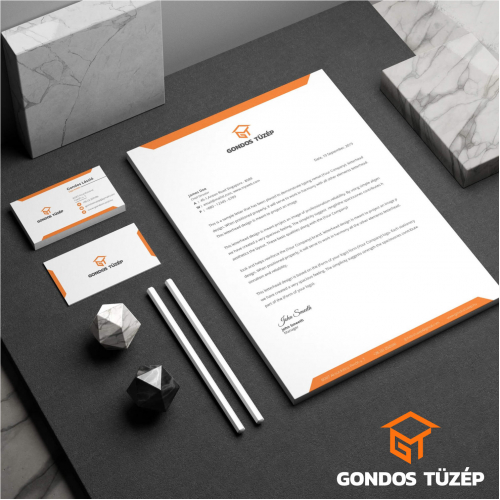 Logo and stationery design for a construction company