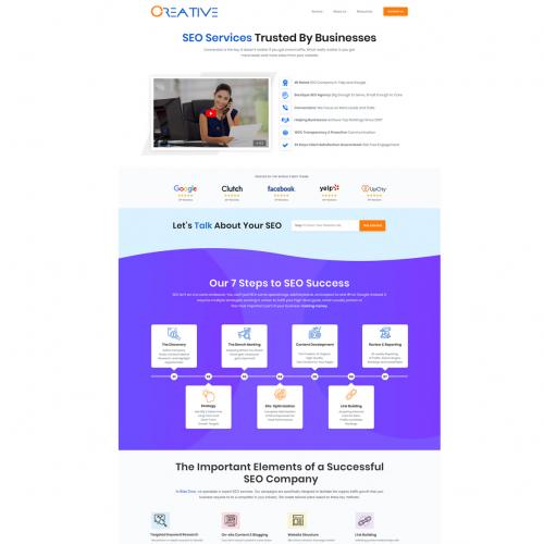 SEO page design