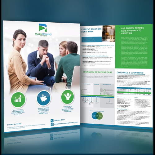 Print Flyer graphic design single sheet