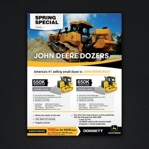 John Deere earth movers  Flyer