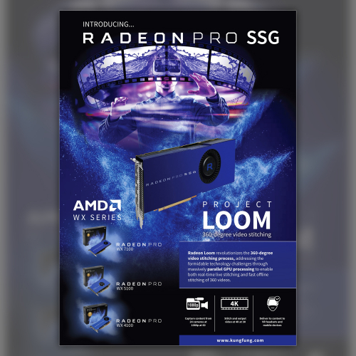 Print Flyer design AMD Radeon pro reseller