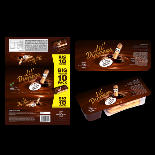 Lil dippers packaging and labeling