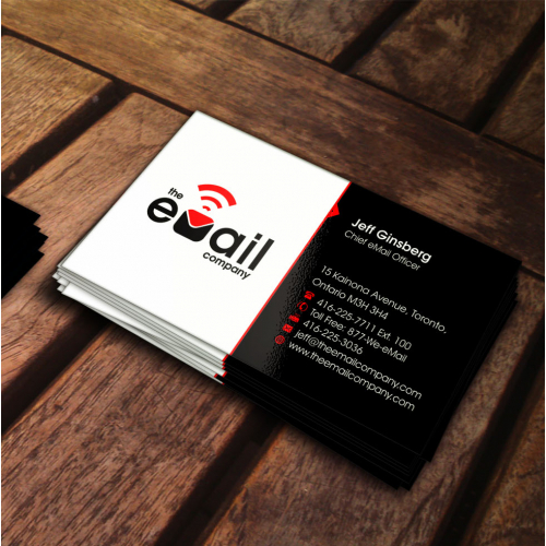 The Email Company business card design