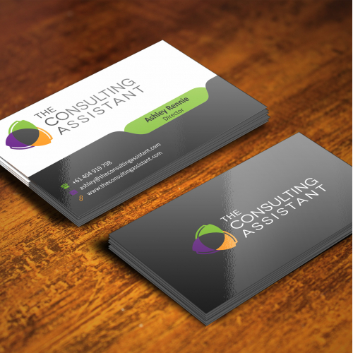 The consultant assistant business card design