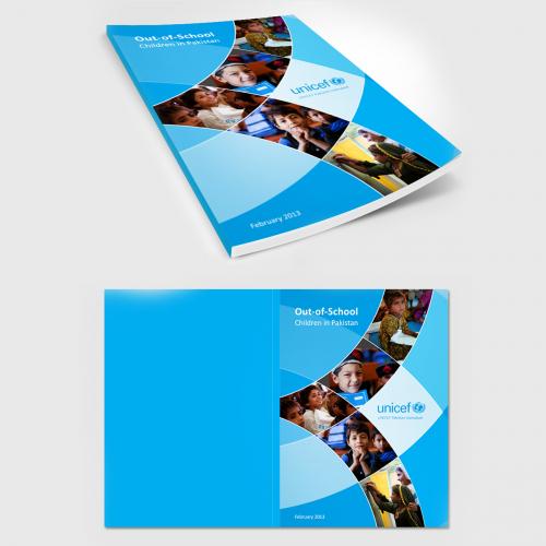 Unicef book cover design