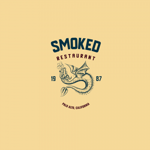 Mock Restaurant Logo - Smoked