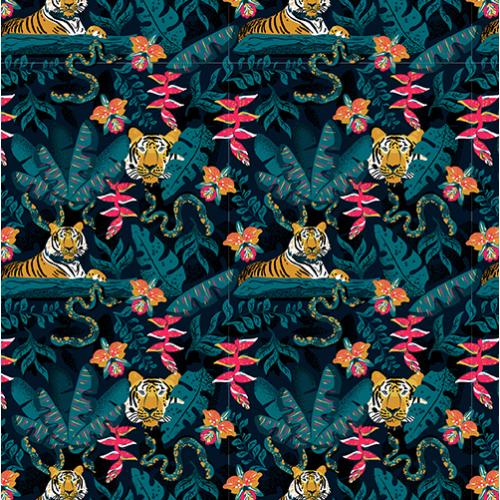 Tiger jungle pattern
