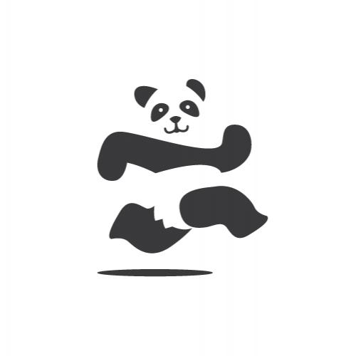 Panda Run Logo Design
