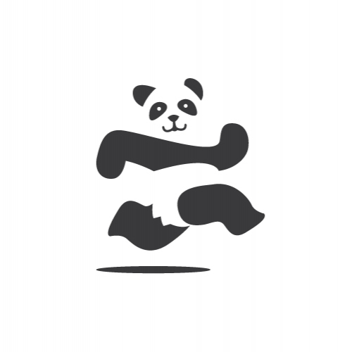 Panda Run Logo Design