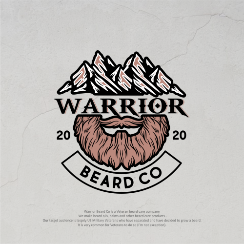 mountain and beard logo
