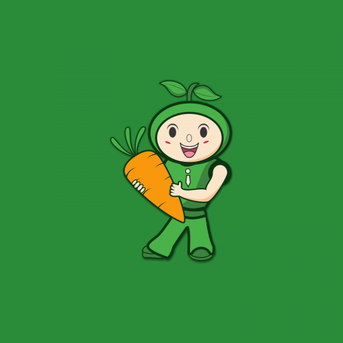 food drink logo design, I designed with carrot and cart