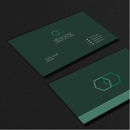 Hexagon Business Card Design