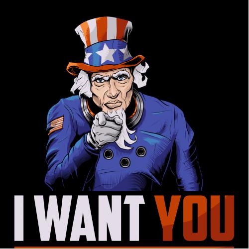 Space Force Uncle Sam Illustration