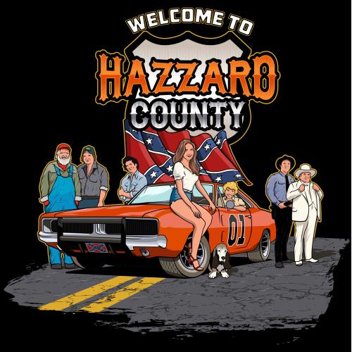 Dukes of Hazzard Illustration