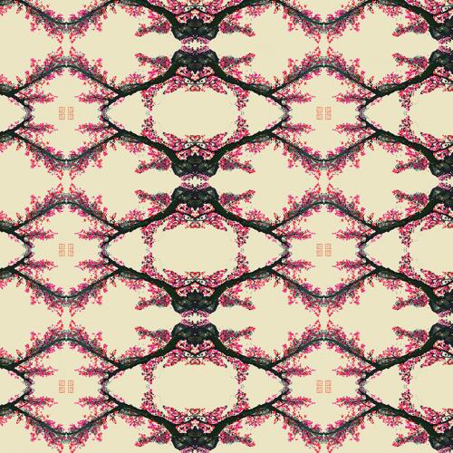 Blooming trees pattern