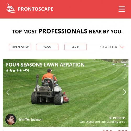 Lawn company mobile app design