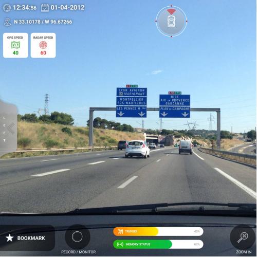 Security camera view design