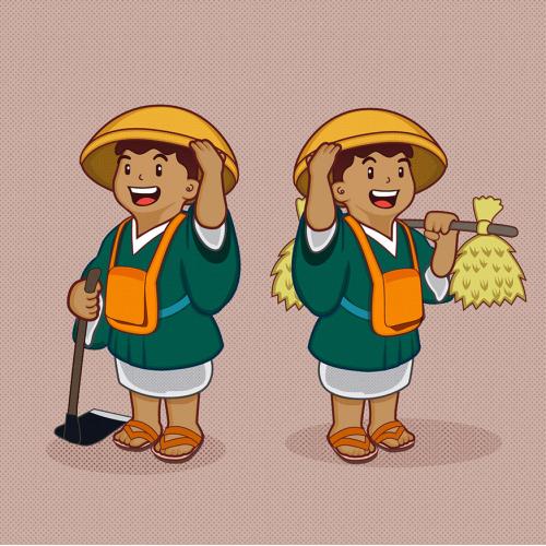 Vintage farmer mascot