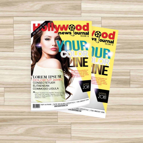 Hollywood news journal Magazine Design