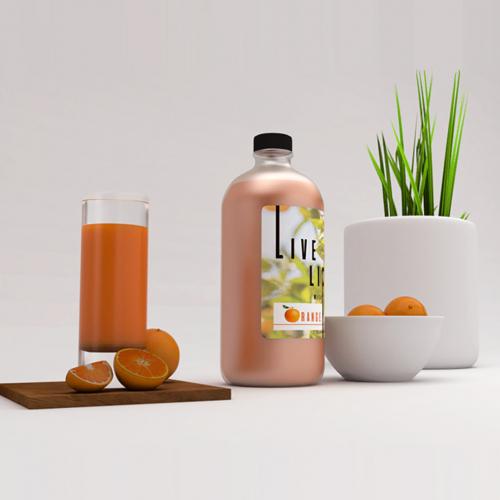 3d design  ( orange juice)