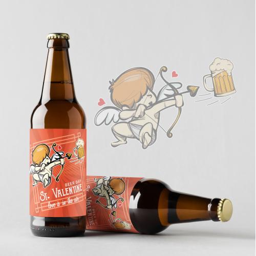 Valentine's Day beer label