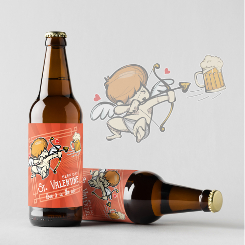 Valentine's Day beer label