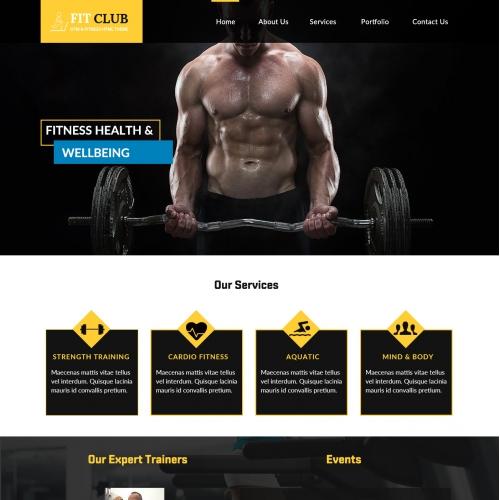 Website design for Gym