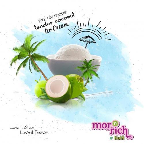 Freshly Made Tender Coconut Ice Cream !