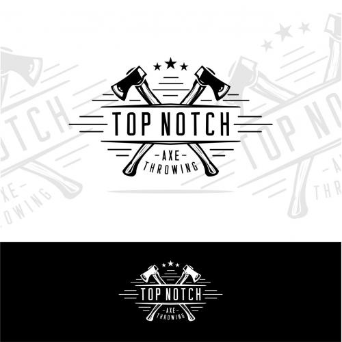 Top Notch Axe Throwing Logo Design