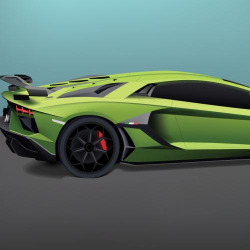 Lamborghini Car Illustration