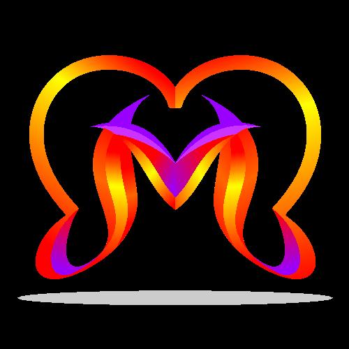 Letter M Love