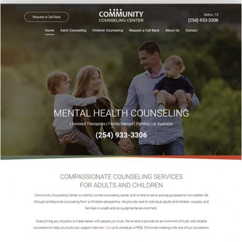 Community Counseling Center Website Design